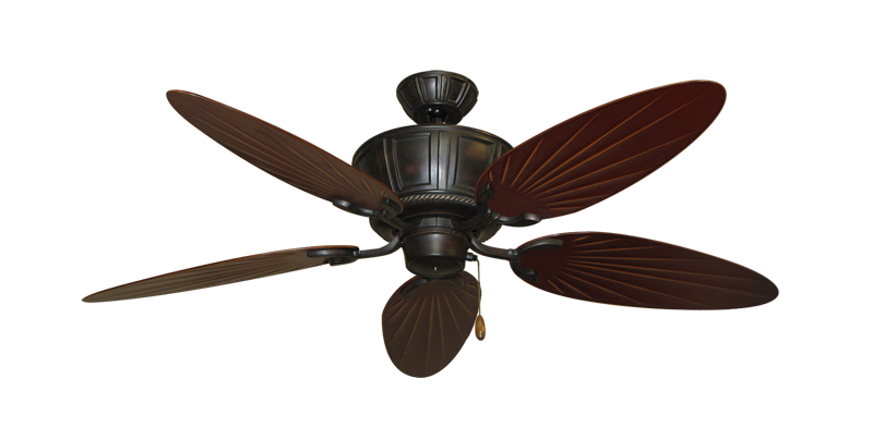 """Picture of Centurion Oil Rubbed Bronze with 52"""" Outdoor Palm Wine Blades"""