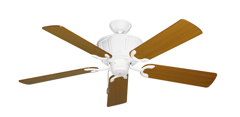 "Picture of Centurion Pure White with 52"" Teak Blades"