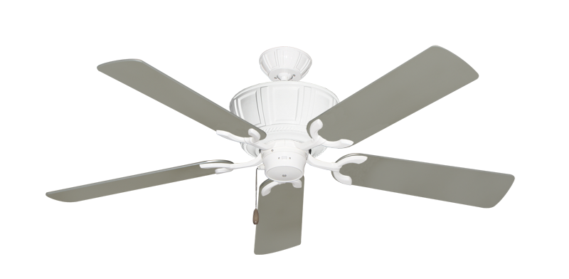 """Picture of Centurion Pure White with 52"""" Satin Steel (painted) Blades"""