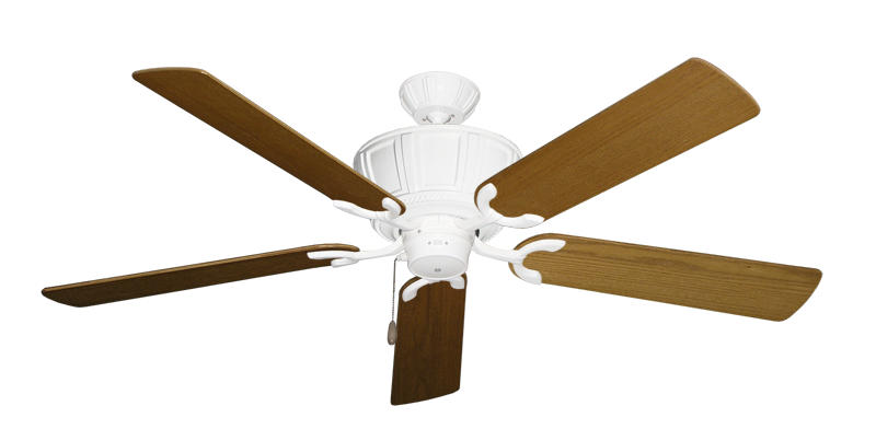 """Picture of Centurion Pure White with 56"""" Light Oak Blades"""