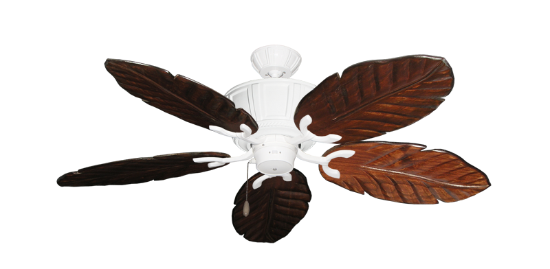 """Picture of Centurion Pure White with 52"""" Series 125 Arbor Cherrywood Blades"""