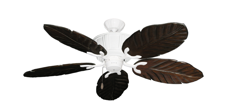 "Picture of Centurion Pure White with 52"" Series 125 Arbor Dark Walnut Blades"