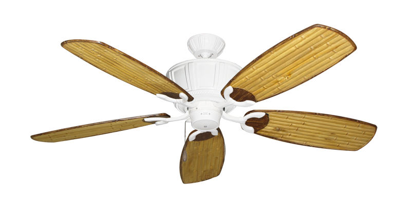 """Centurion Pure White with 52"""" Series 275 Arbor Bamboo Blades"""