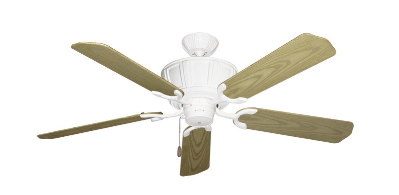 """Picture of Centurion Pure White with 52"""" Outdoor Bleached Oak Blades"""