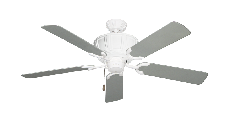 "Picture of Centurion Pure White with 52"" Outdoor Brushed Nickel Blades"
