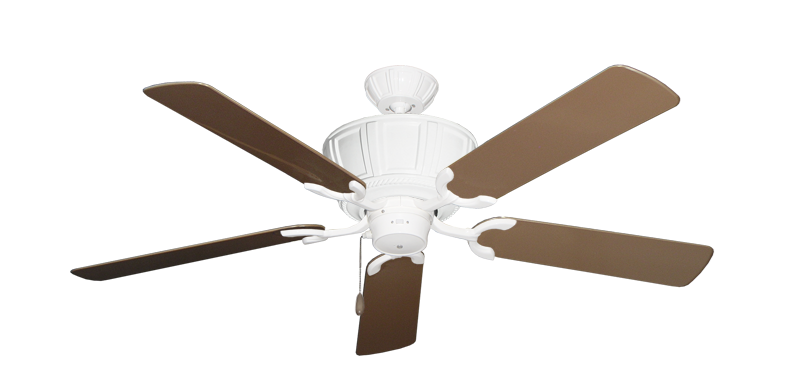 """Centurion Pure White with 52"""" Outdoor Brown Blades"""