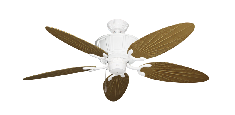 """Picture of Centurion Pure White with 52"""" Outdoor Palm Walnut Blades"""