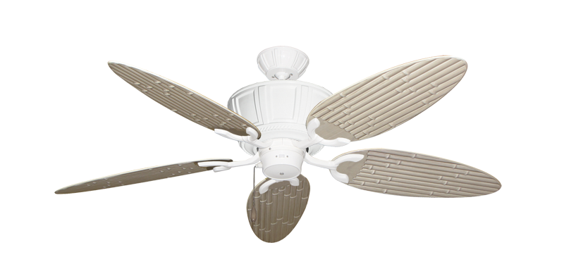 """Picture of Centurion Pure White with 52"""" Outdoor Bamboo Distressed White Blades"""