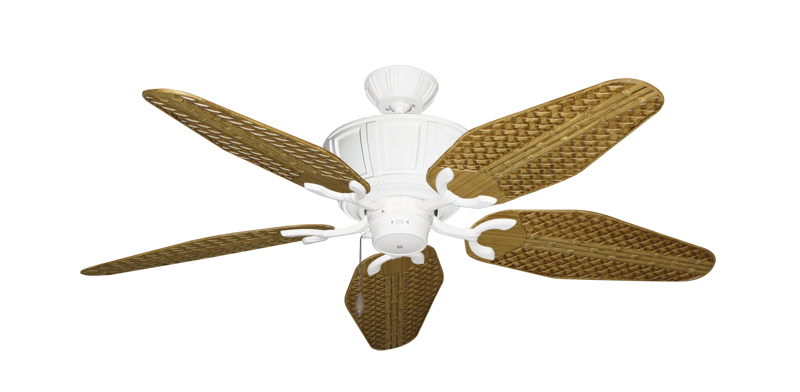 "Picture of Centurion Pure White with 52"" Outdoor Weave Walnut Blades"