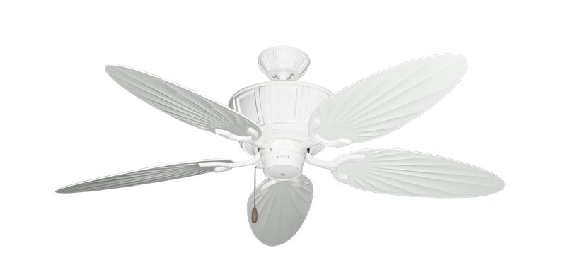"Picture of Centurion Pure White with 52"" Outdoor Palm Pure White Blades"
