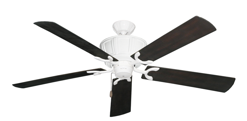 """Picture of Centurion Pure White with 60"""" Outdoor Oil Rubbed Bronze Blades"""