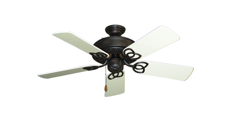 """Picture of Renaissance Oil Rubbed Bronze with 44"""" Antique White Gloss Blades"""