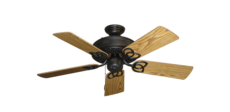"""Picture of Renaissance Oil Rubbed Bronze with 44"""" Oak Gloss Blades"""