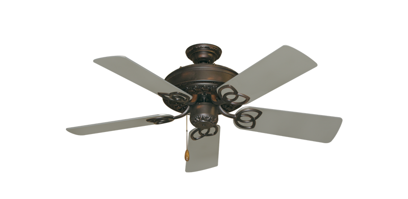 "Picture of Renaissance Oil Rubbed Bronze with 44"" Satin Steel (painted) Blades"