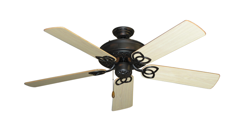"""Picture of Renaissance Oil Rubbed Bronze with 52"""" Bleached Oak Gloss Blades"""