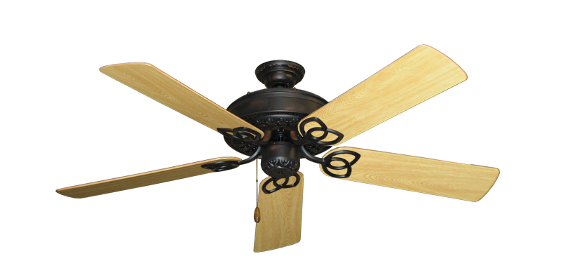 """Picture of Renaissance Oil Rubbed Bronze with 52"""" Honey Oak Gloss Blades"""