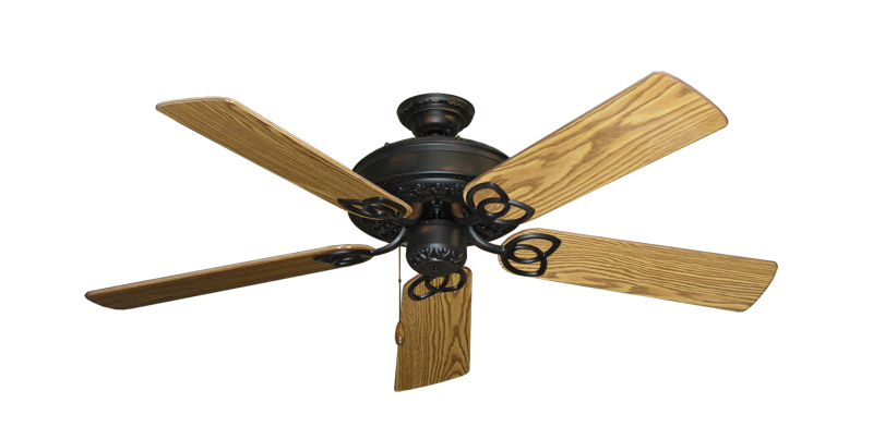 "Picture of Renaissance Oil Rubbed Bronze with 52"" Oak Gloss Blades"