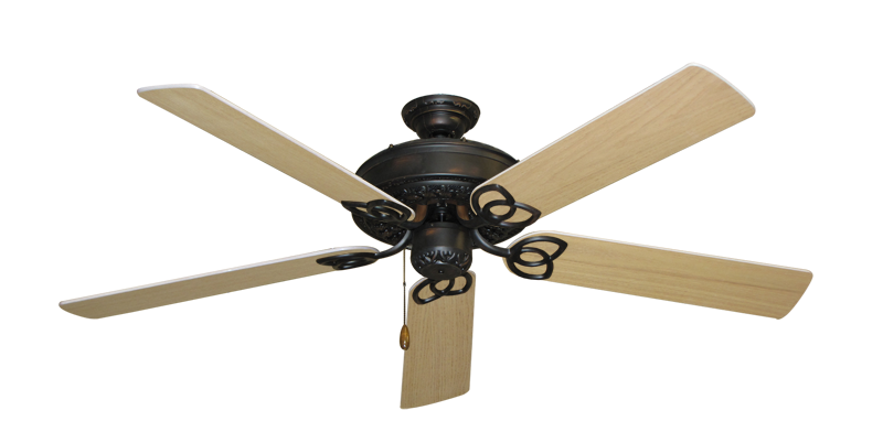 "Picture of Renaissance Oil Rubbed Bronze with 56"" UnMotor Finished Oak Blades"