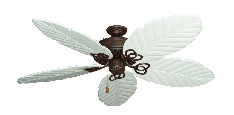 "Picture of Renaissance Oil Rubbed Bronze with 58"" Series 100 Arbor Pure White Blades"