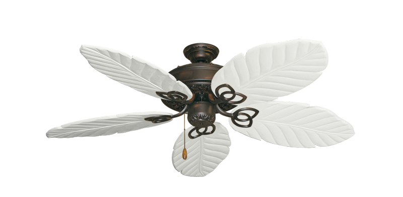 """Picture of Renaissance Oil Rubbed Bronze with 52"""" Series 125 Arbor Pure White Blades"""