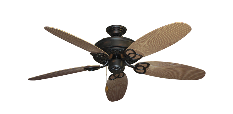 "Picture of Renaissance Oil Rubbed Bronze with 52"" Outdoor Leaf Tan Blades"