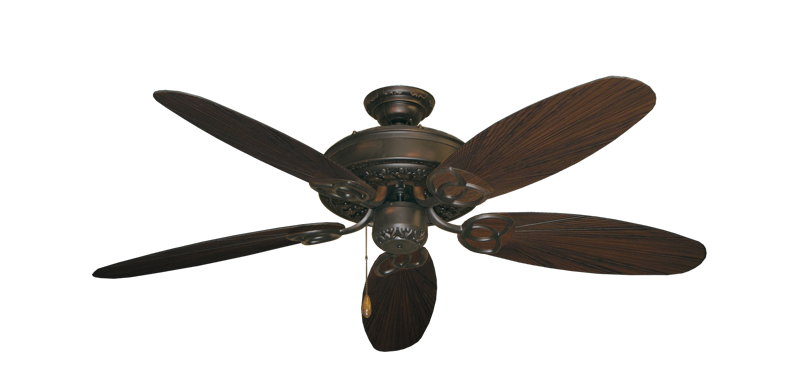 "Picture of Renaissance Oil Rubbed Bronze with 52"" Outdoor Leaf Oil Rubbed Bronze Blades"