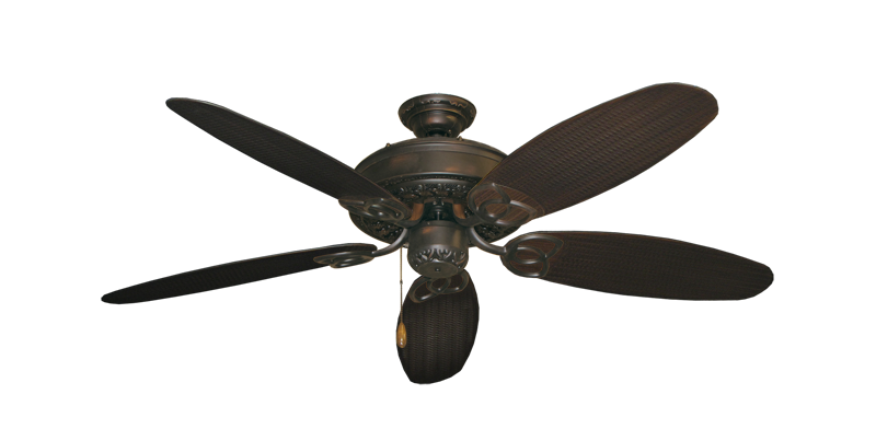 "Picture of Renaissance Oil Rubbed Bronze with 52"" Outdoor Wicker Oil Rubbed Bronze Blades"