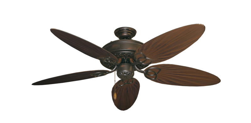 """Picture of Renaissance Oil Rubbed Bronze with 52"""" Outdoor Palm Oil Rubbed Bronze Blades"""
