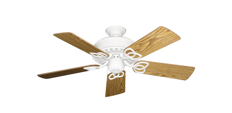 """Picture of Renaissance Pure White with 44"""" Oak Gloss Blades"""