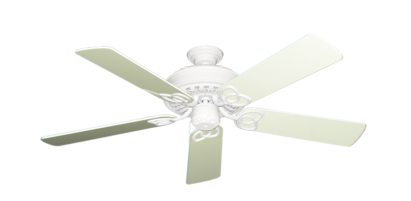 """Picture of Renaissance Pure White with 52"""" Antique White Gloss Blades"""