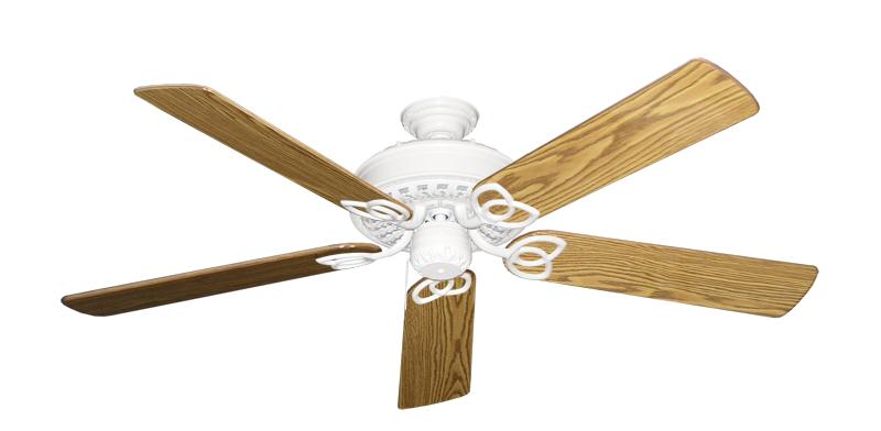 """Picture of Renaissance Pure White with 56"""" Oak Gloss Blades"""