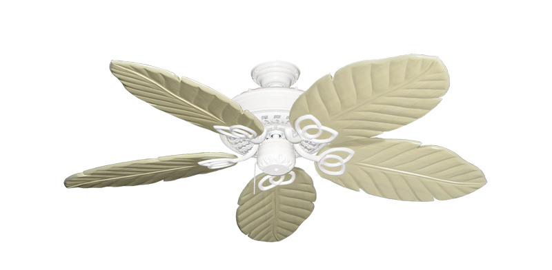 """Picture of Renaissance Pure White with 52"""" Series 125 Arbor Whitewash Blades"""