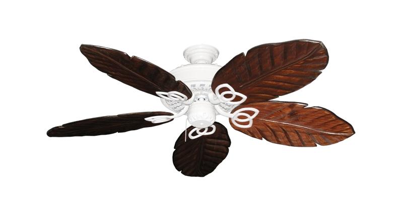 """Picture of Renaissance Pure White with 52"""" Series 125 Arbor Cherrywood Blades"""