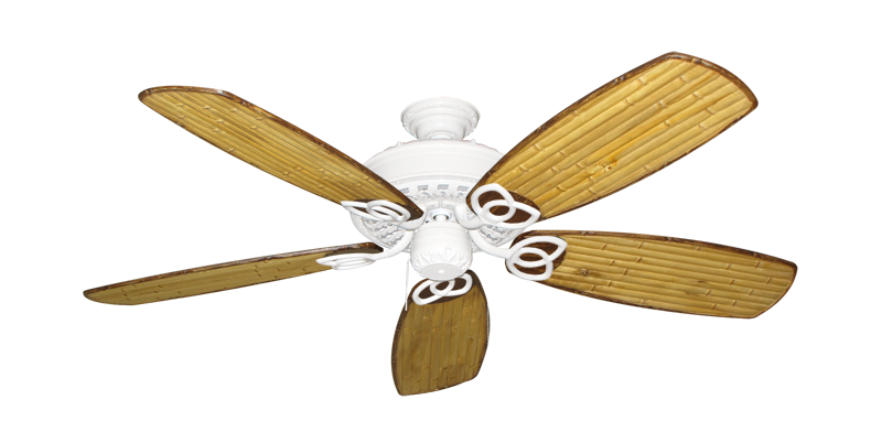 """Picture of Renaissance Pure White with 52"""" Series 275 Arbor Bamboo Blades"""