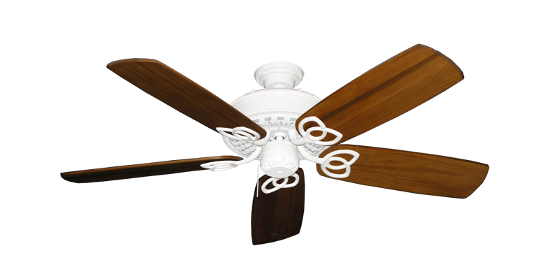 """Picture of Renaissance Pure White with 52"""" Series 425 Arbor Oak Blades"""