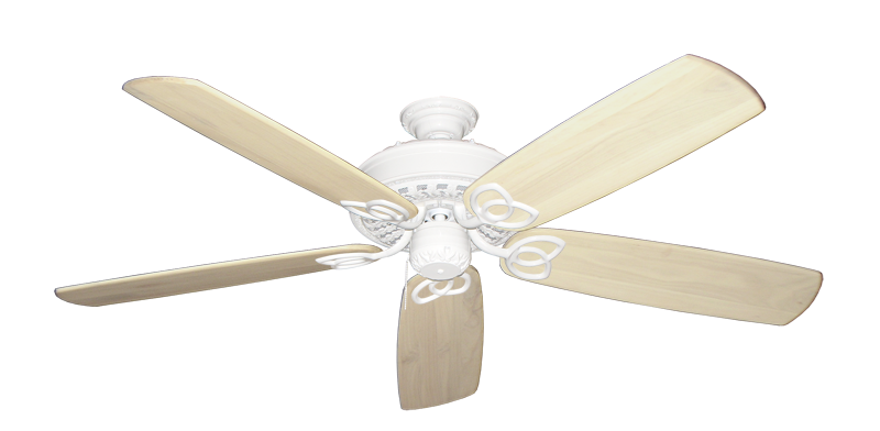 "Picture of Renaissance Pure White with 60"" Series 450 Arbor Whitewash Blades"