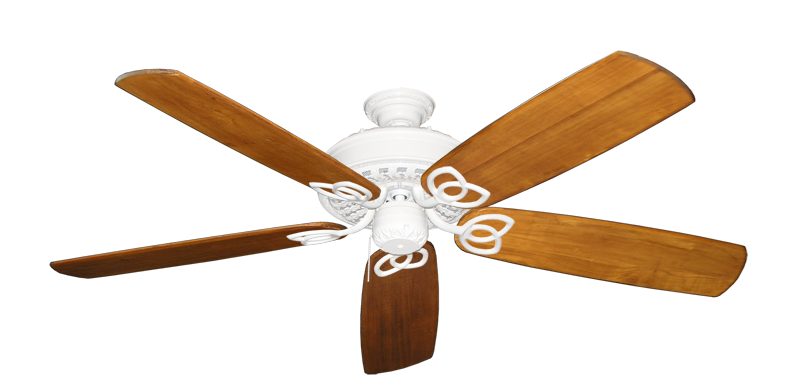 """Picture of Renaissance Pure White with 60"""" Series 450 Arbor Oak Blades"""