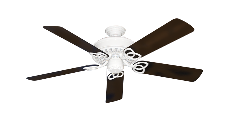 """Picture of Renaissance Pure White with 52"""" Outdoor Oil Rubbed Bronze Blades"""