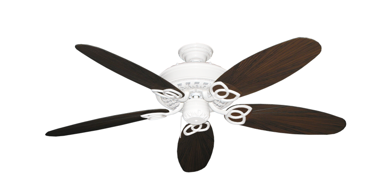 """Picture of Renaissance Pure White with 52"""" Outdoor Leaf Oil Rubbed Bronze Blades"""