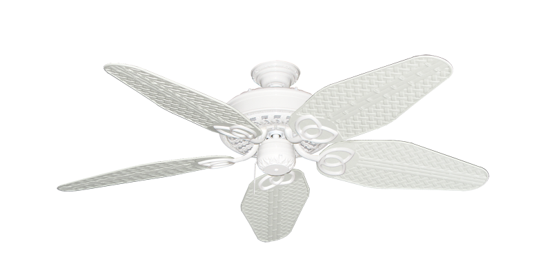 """Picture of Renaissance Pure White with 52"""" Outdoor Weave Pure White Blades"""