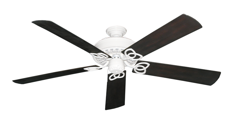 """Picture of Renaissance Pure White with 60"""" Outdoor Oil Rubbed Bronze Blades"""