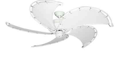 """Picture of Raindance Pure White with 52"""" Nautical Fabric Pure White Blades (add $99.99)"""