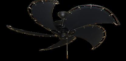 "Picture of Raindance Matte Black with 52"" Nautical Fabric Black Blades (add $99.99)"