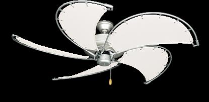 "Raindance Brushed Nickel BN-1 with 52"" Nautical Fabric Pure White Blades (add $99.99)"