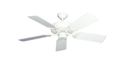 "Picture of Patio Fan Pure White with 44"" Pure White Gloss Blades"