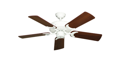 "Picture of Patio Fan Pure White with 44"" Walnut Blades"