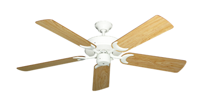 "Picture of Patio Fan Pure White with 52"" Maple Blades"