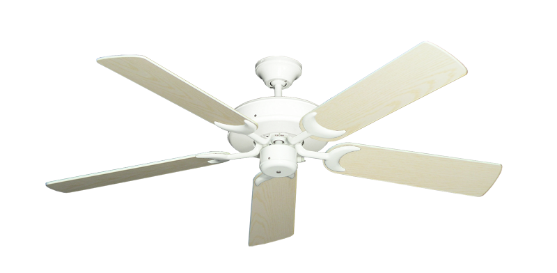 "Picture of Patio Fan Pure White with 52"" Pine Blades"