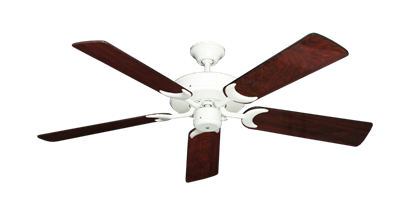 "Picture of Patio Fan Pure White with 52"" Cherrywood Gloss Blades"