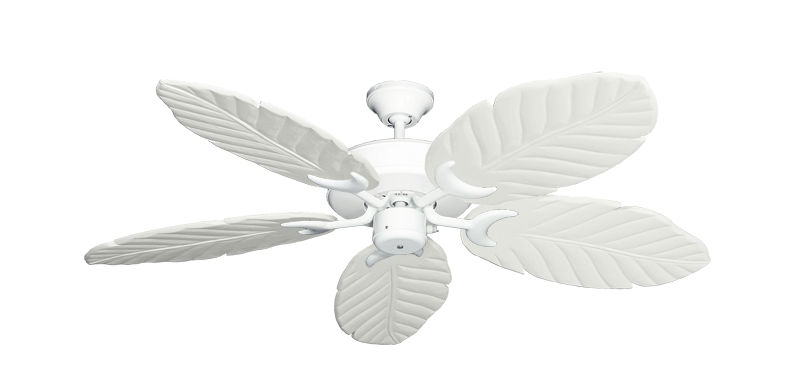 """Patio Fan Pure White with 52"""" Series 125 Arbor Pure White Blades"""
